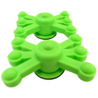 BowJax - MonsterJax - Dampener - Solid Limb - Flo Green - 2 Pack