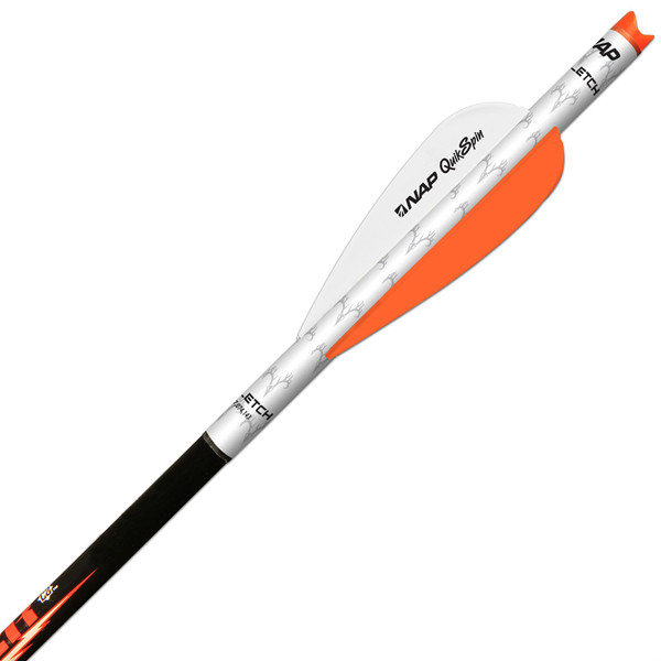 "NAP QUIKFLETCH 3"" QUIKSPIN FOR CROSSBOW (6 PACK) White/Orange/Orange"