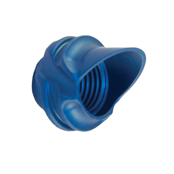 Speciality Archery 1/4in Large Hooded Peep Housing 37 Degree Blue