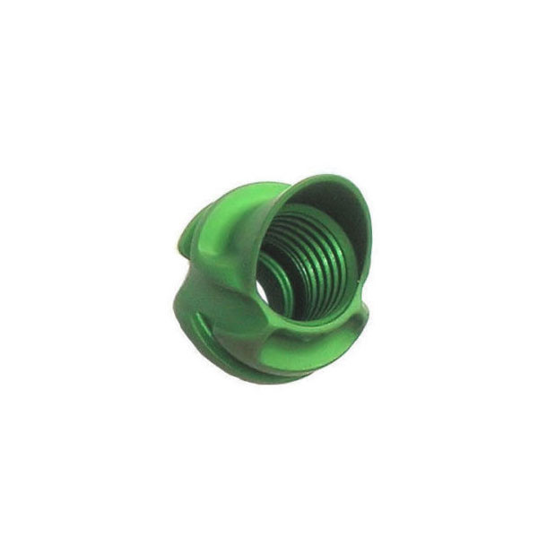 Speciality Archery 1/4in Large Hooded Peep Housing 37 Degree Green