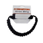 Easton Wrist Sling Diamond Paracord Wide Braid Black