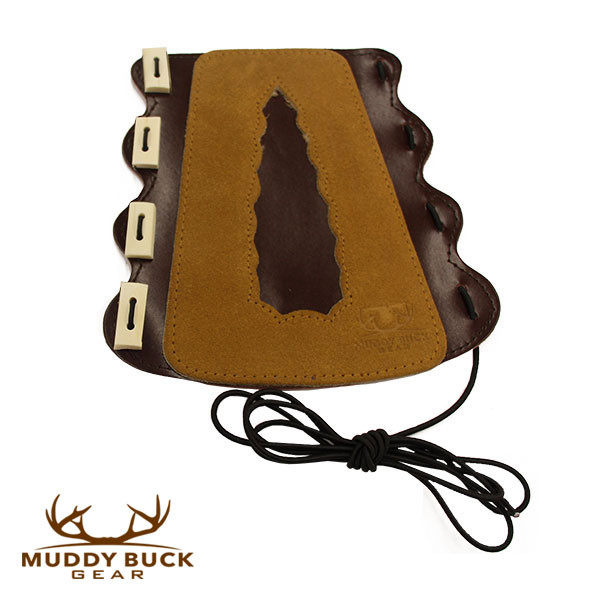 Muddy Buck Gear Large 4 Tab Adjustable Leather Arm Guard