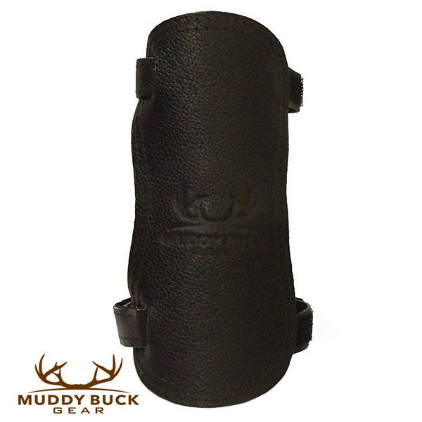 Muddy Buck Gear Chocolate Velcro Adjustable Leather Arm Guard