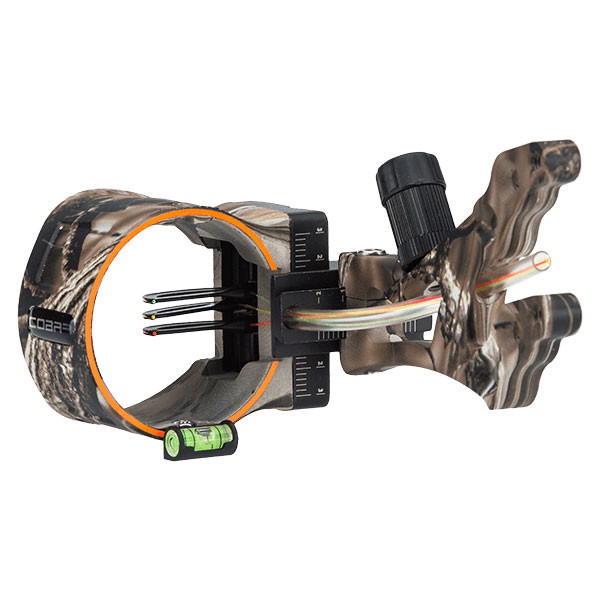 Cobra Smoke G2 3 Pin Bow Sight  w/ Light - Lost XD Camo