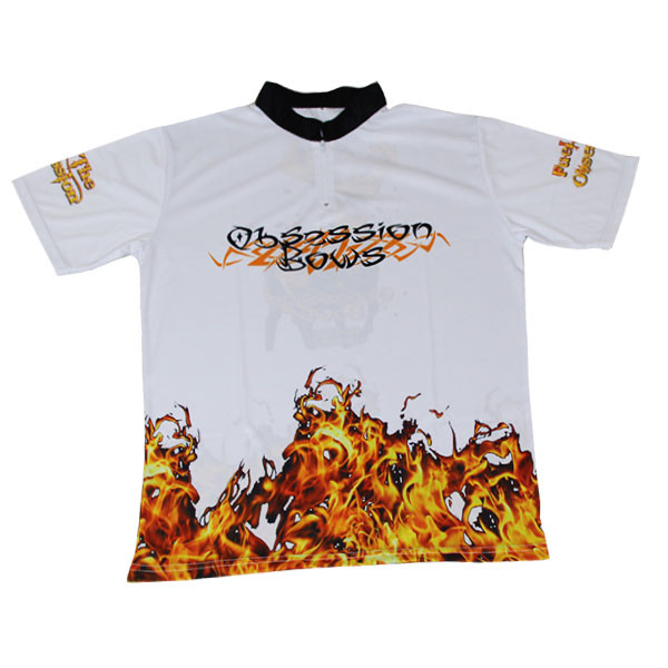 Obsession Flame Jersey - White - 3XL