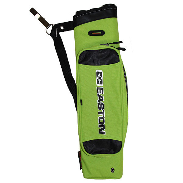 Easton Flipside 3-Tube Hip Quiver, Fits RH and LH Flo Green