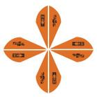 Bohning Blazer Vanes 2in. Neon Orange 100 Pack