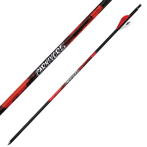 """Black Eagle Carnivore Fletched Arrows - .001"""" 6 Pack - 250"""