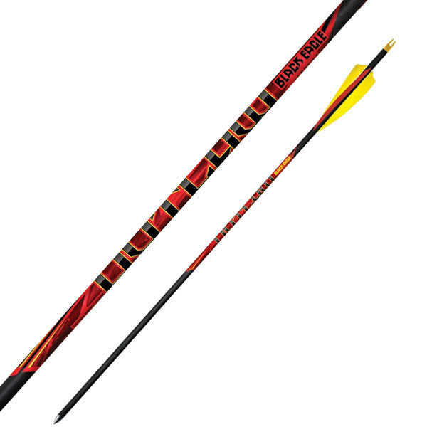 "Black Eagle Outlaw Feather Fletched Arrows - .005"" 6 Pack - 600"