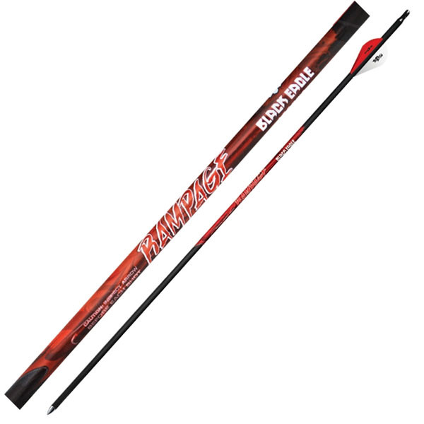 "Black Eagle Rampage Fletched Arrows - .003"" 6 Pack - 250"