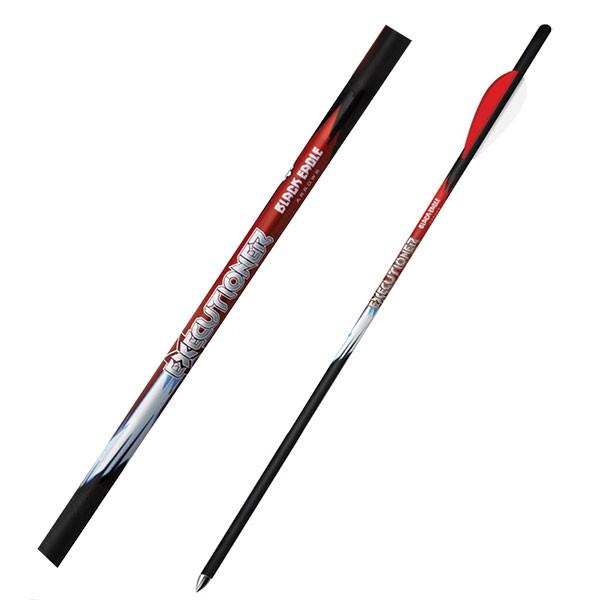 "Black Eagle Executioner Crossbow Fletched Arrows - .003"" 6 Pack - 22"" - 3"" Bohning X Vane"