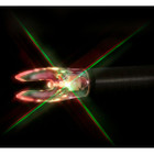 Nockturnal FIT Universal Size Strobing Red & Green Lighted Nock RED/GREEN - 3 Pack