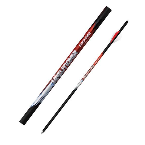 """Black Eagle Executioner Crossbow Fletched 18"""" Arrows - .001"""" 6 Pack -  2"""" Bohning Blazer Vane"""