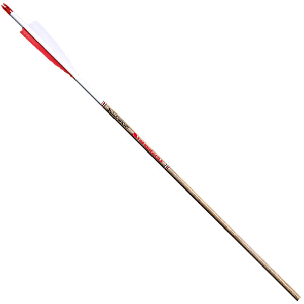BloodSport Timberwolf Wooden Laminent - 400 6PK Arrows w/ 2in. Fletchings