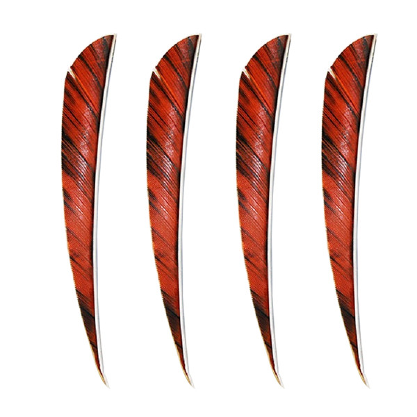 "Muddy Buck 3"" Parabolic RW Feathers - Orange Camo (50 Pack)"