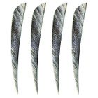 "Muddy Buck 3"" Parabolic RW Feathers - White Camo (50 Pack)"