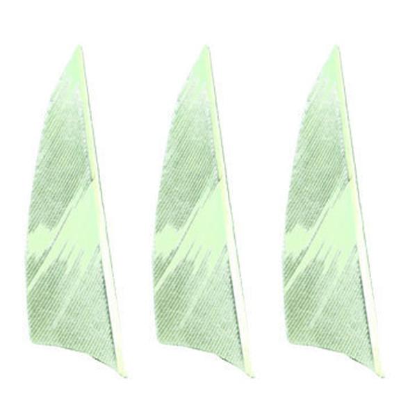 "Muddy Buck Gear 2"" RW Shield Barred Feathers - 50 Pack (Flo Green)"