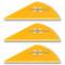 VaneTec HP 1.5 Vanes - 50 Pack (Ultra Orange)