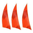 "Muddy Buck Gear 2"" RW Shield Barred Feathers - 50 Pack (Flo Orange)"