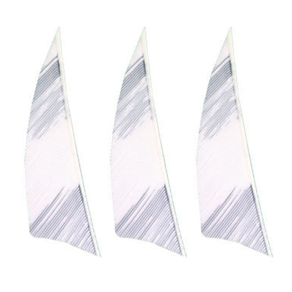 """Muddy Buck Gear 2"""" RW Shield Barred Feathers - 50 Pack (Flo White)"""