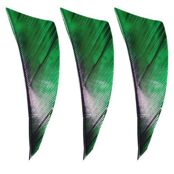 "Camo Green Muddy Buck Gear 2/"" RW Shield Cut Feathers 36 Pack"