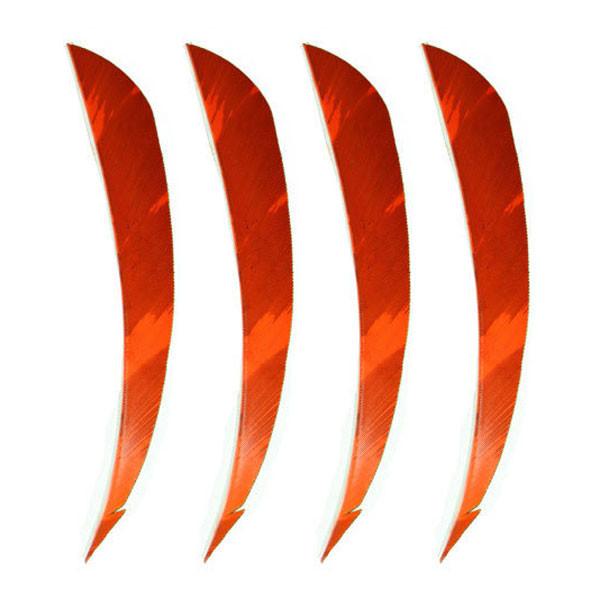 "Muddy Buck Gear 4"" Parabolic RW Barred Feathers - 50 Pack (Flo Orange)"