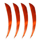 "Muddy Buck Gear 4"" Parabolic RW Barred Feathers - 50 Pack (Flo Orange)"