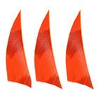"Muddy Buck Gear 2"" RW Shield Barred Feathers - Flo Orange (36 Pack)"