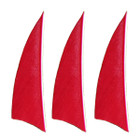 "Muddy Buck Gear 2"" RW Shield Cut Feathers - 36 Pack (Red)"