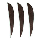 """Muddy Buck Gear 3"""" Parabolic RW Feathers - 36 Pack (Brown)"""