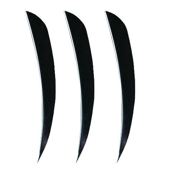 "Muddy Buck Gear 4"" Parabolic RW Feathers - 36 Pack (Black)"