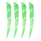 "Muddy Buck Gear 4"" Parabolic RW Barred Feathers - 36 Pack (Flo Green)"