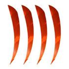 "Muddy Buck Gear 4"" Parabolic RW Barred Feathers - 36 Pack (Flo Orange)"