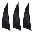 """Muddy Buck Gear 2"""" RW Shield Cut Feathers - 100 Pack (Black)"""