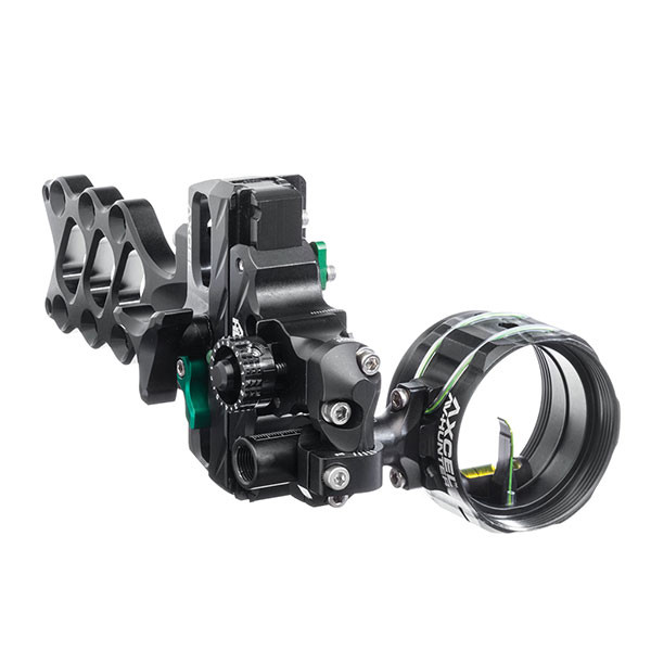 Axcel AccuHunter Slider Sight - 41mm Scope with T Connector - Non-Dampened - Single Pin - .010 Green Fiber - Black Sight