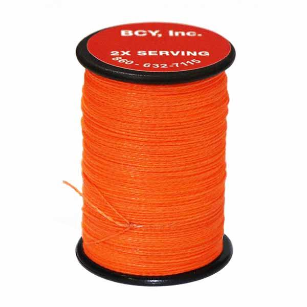 """BCY 2X End Serving .015"""" (150 yds) Flo Orange"""