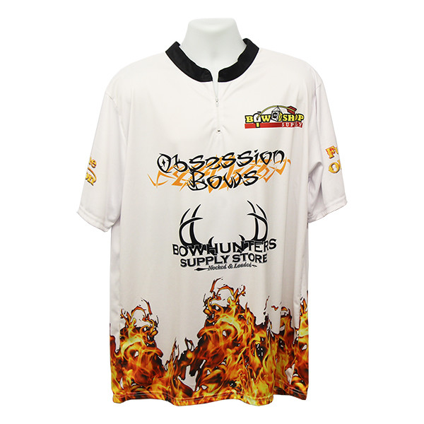 Bowhunters Supply BHSS Logo Obsession Flame Jersey - White - 2XL