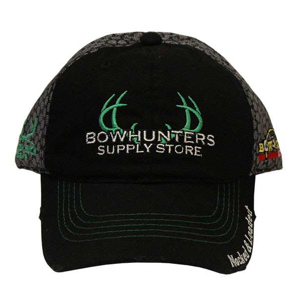 Bowhunters Supply Store Shooter Staff Blk/Grey Mesh Hat