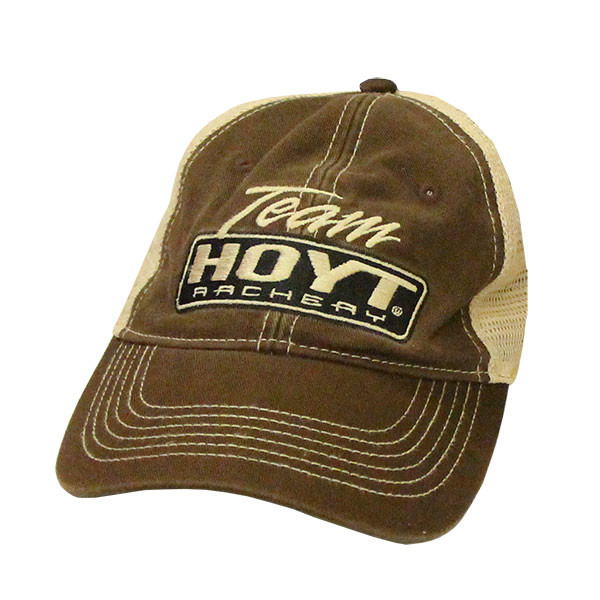 be9a630171ff8 Hoyt Archery Brown Tan Mesh Hat - Bowhunters Supply Store