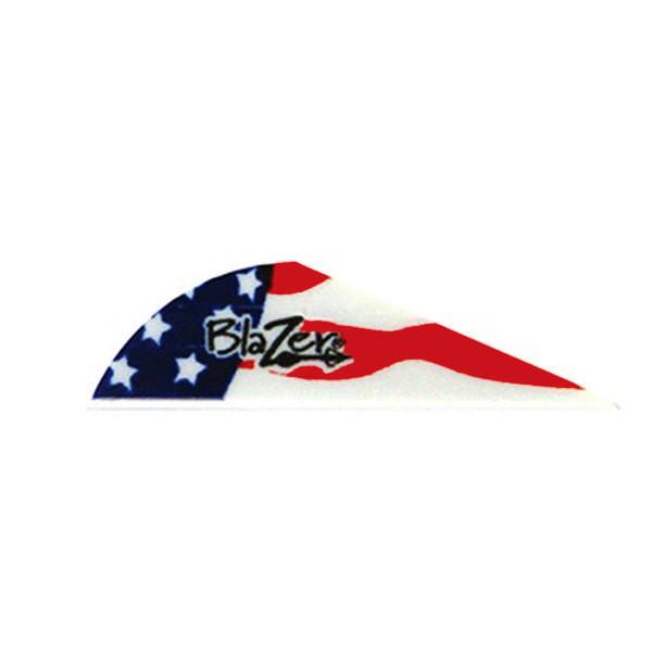 Bohning American Flag Blazer Vanes - 36 Pack