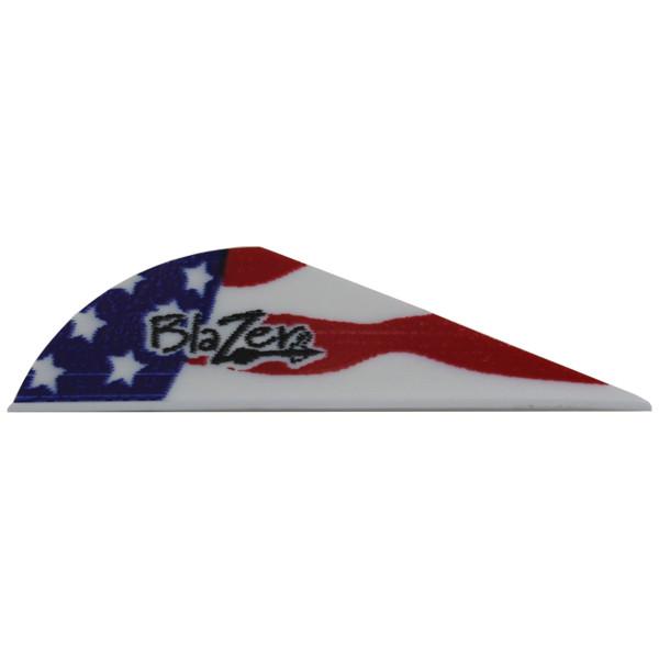 Bohning American Flag Blazer Vanes - 12 Pack