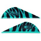 Bohning Teal Tiger Blazer Vanes - 36 Pack