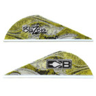 Bohning Yellow Rusted Flame Blazer Vanes - 12 Pack