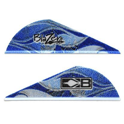 Bohning Blue Rusted Flame Blazer Vane 100 Pack