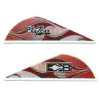 Bohning Red Rusted Flame Blazer Vanes - 36 Pack