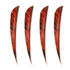 "Muddy Buck 3"" Parabolic RW Feathers - Orange Camo (100 Pack)"