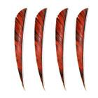 "Muddy Buck 3"" Parabolic RW Feathers - Orange Camo (100 Pack)"