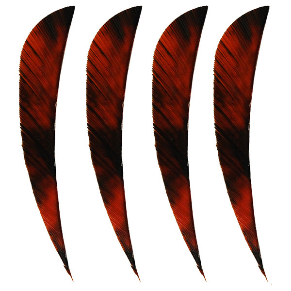 "Muddy Buck 3"" Parabolic RW Feathers - Red Camo (50 Pack)"