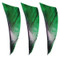 "Muddy Buck Gear 2"" RW Shield Cut Feathers - 100 Pack (Camo Green)"