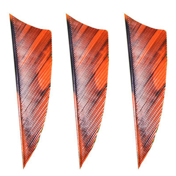 "Muddy Buck Gear 2"" RW Shield Cut Feathers - 100 Pack (Camo Orange)"